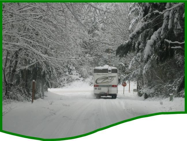 RV in snow
